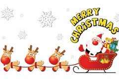 圣诞老人和圣诞树等矢量图下载