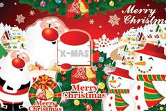 2010年圣诞老人矢量素材下载
