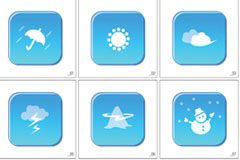 GRAPHIC韩国天气矢量图标