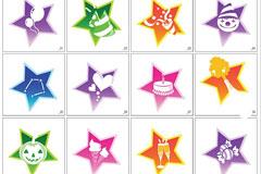 GRAPHIC星星外框生活物品矢量图标