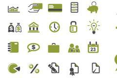 20个商业金融矢量图标素材