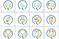 GRAPHIC韩国商务和小动物矢量图标