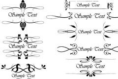 EPS格式多款矢量花纹和花边素材