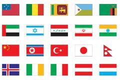 100个世界各国国旗矢量图