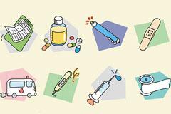 卡通医疗医药Banzzoc韩国矢量图标