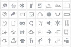 135个AI格式黑白电子商务常用图标