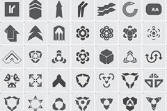 50个EPS格式矢量箭头花素材集