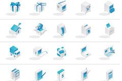 蓝色系列韩国矢量图标