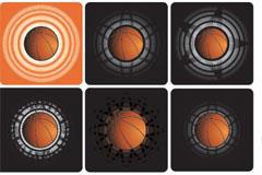 各式风格篮球矢量素材下载
