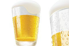 AI格式酷爽流行啤酒和啤酒杯乐虎国际线上娱乐
