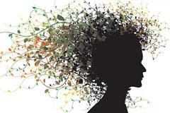 个性花边发型矢量素材