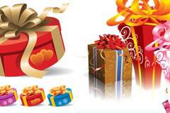 5款漂亮的礼物包装盒EPS素材