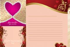 六款情人节主题矢量素材