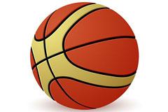 一款立体逼真的篮球矢量素材