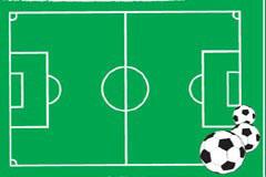 一款形象的足球场平面图矢量素材