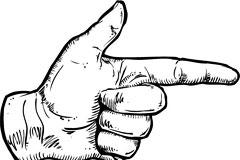 一款常见的手势矢量素材