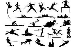 体育运动动作剪影矢量素材大全