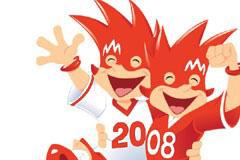 2008欧洲杯吉祥物矢量素材