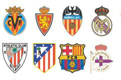 AI格式西班牙足球俱乐部标志矢量