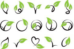 由藤类植物组成的各种形状矢量素材