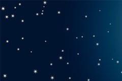 深邃的夜空矢量素材