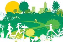一款环保主题的绿色都市矢量素材