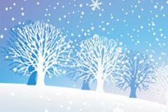 美丽的雪景矢量素材