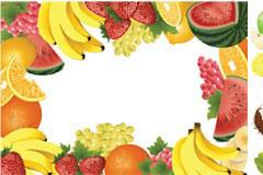 水果及水果边框矢量素材