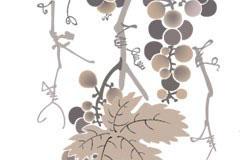 一款水墨葡萄树矢量素材