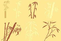 多款AI格式竹子剪影矢量素材