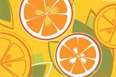 一款充满卡通色彩的橙子矢量素材