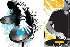 2款很酷的DJ人物矢量素材