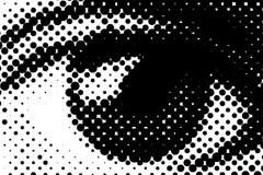 由圆点组成的眼睛矢量素材