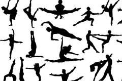 各种舞蹈人物剪影矢量素材