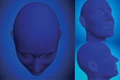 一款3D立体人物头像矢量素材