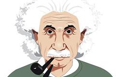 爱因斯坦画像矢量素材