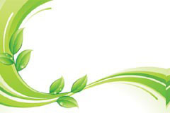 一款动感线条绿色植物矢量素材