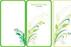 七款实用绿色植物边框矢量素材