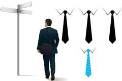 白领男士与领带矢量素材