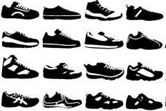 各种款式运动鞋矢量素材下载