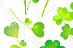 可爱的四叶草植物矢量素材