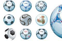 9款AI格式超逼真的专业足球矢量素材