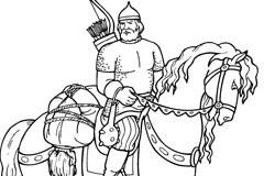 古罗马老骑士矢量素材
