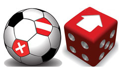 红色立体色子与足球矢量素材