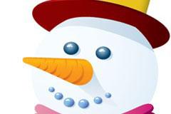 一款圣诞节雪人矢量素材