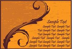 怀旧风格的4张卡片EPS矢量素材