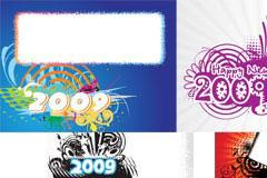 五款2009年潮流公告矢量素材