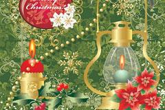 欧式圣诞节花纹矢量素材