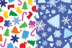 两款圣诞节可爱背景EPS矢量素材