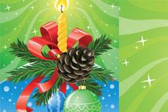 圣诞节烛光矢量素材
